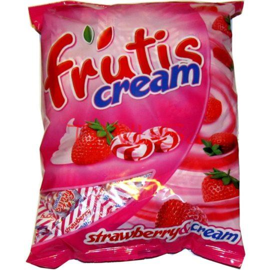 bonbóny Frutis cream jahodové tvrdé 1kg Mieszko