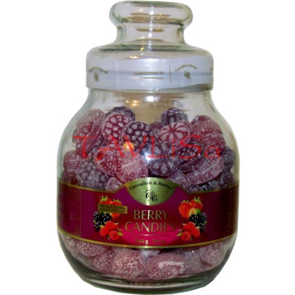 Bonbóny Berry Candies 966g Skleněná dóza